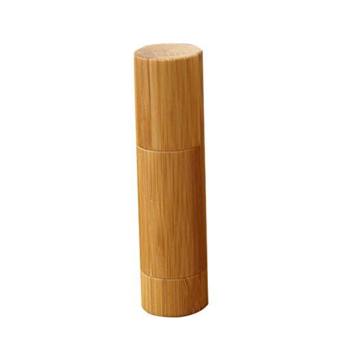 SOLUSTRE Tubos de Lápiz Labial Vacíos de Bambú Envases de Tubo de Bálsamo Labial Recargables para Maquillaje de Niñas Y Mujeres