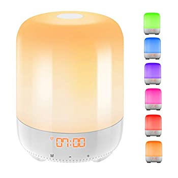 Upgraded  AMIR Wake-Up Light Sunrise Simulation Alarm Clock Nature Night Light 3 Brightness Bedside Lamp for Kids Morning Wake-Up Alarm Light with Nature Sounds - Touch Control