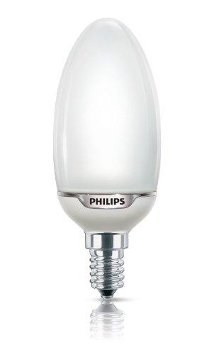 Philips 929689673504 Softone Flamme Lisse B43 12 W E14 WW 1BL ampoule à Economie d'énergie 230V