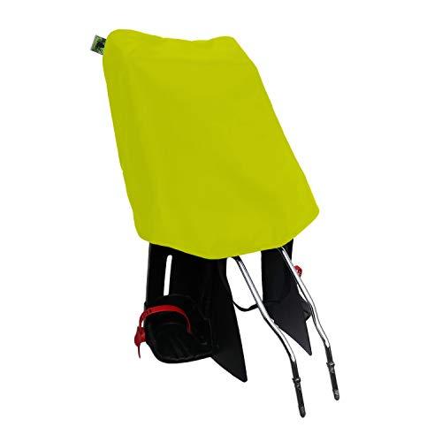 MadeForRain Preiswerter Regenschutz für Fahrradkindersitz - CityFrog Basic - Neongelb