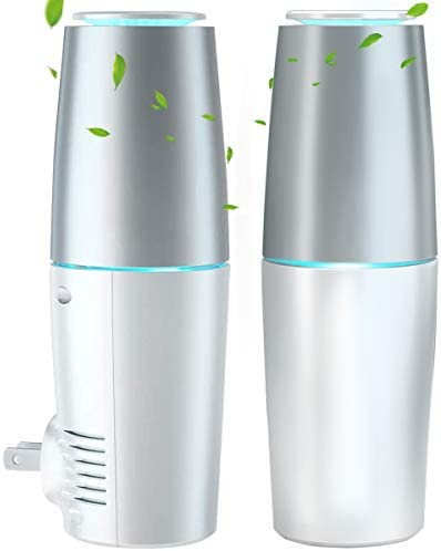 HomeZens UV C Air Sanitizer 2 Pack Portable Plug in Air Purifier for Viruses and Bacteria Eliminate product image