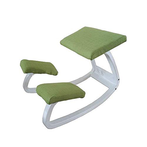 TIN-YAEN Ergonomic Kneeling Chair, Ergonomic Kneeling Chair for Upright Posture - Rocking Chair Knee Stool for Home Office & Meditation (Color : Green, Size : 78 52 11CM) Dining Chair