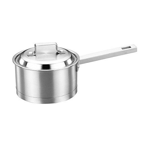 Edelstahl Milchtopf 304 Verdickt Ergänzende Lebensmittel Baby Milch Mini Topf Suppe Topf Instant Nudel Tief brennenden Topf Einhand ZHAOSHUNLI (größe : A)