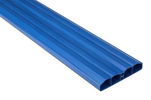 Zaunlatten Sparpaket PZL-19 | widerstandsfähiges Hart-PVC | Kunststoffzaun | Balkonbretter | pflegeleicht | blau bunt | 80 x 16 mm | Hexim | 100 Meter
