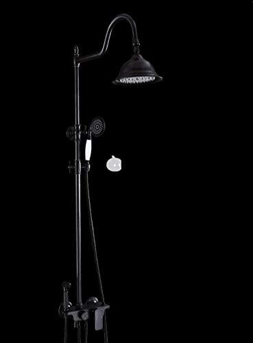 Schwarz Duschset Kupfer Badartefakt EuropäIscher Stil Dusche Mit DamenwäSche Bad Aufzug Dusche Wandmontage