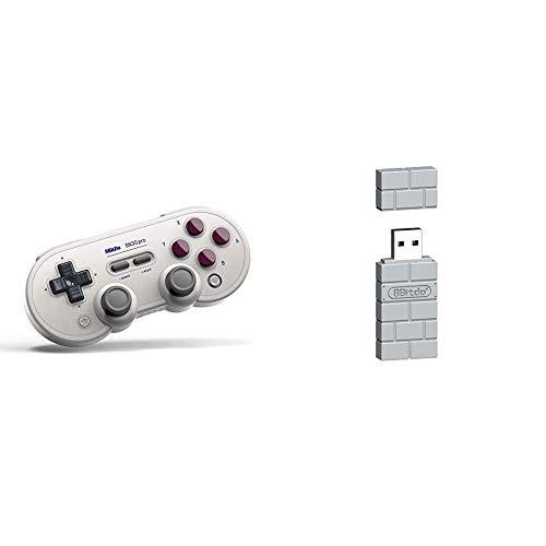 8Bitdo SN30 Pro (G Classic Edition) Bluetooth Game Pad & 8Bitdo USB Wireless Adapter for PS Classic Edition/Windows/Mac/Raspberry Pi/Switch [ ]