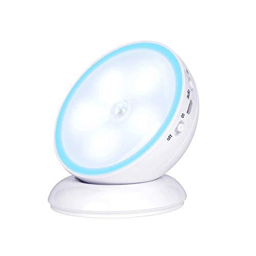 人感センサーライト 明暗センサーライト USB充電式LEDライト LED ナイトライト 人感 フットライト 玄関 ライト 室内照明 廊下照明 階段 足元ライト ライト Night Light 自動点灯 自動消灯 免布線 照明は360度回転する OFOWIN
