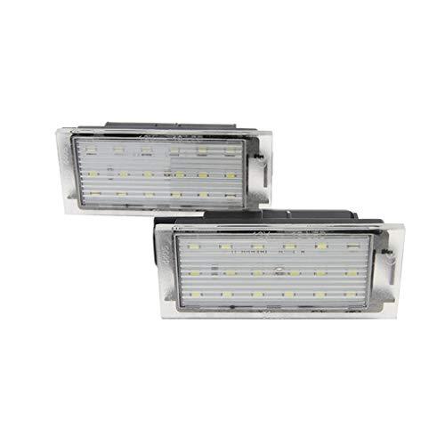 Elenxs 1 Licencia Número Par del Coche LED SMD 3528 Placa de Repuesto para Megane 2 Clio Megane Laguna 2 3