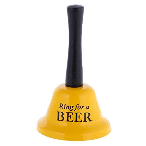 SM SunniMix Witzige Handglocke Tischglocke Dekoglocke Handbells für Hen Night Party und Brautdusche, ca. 12 x 7,5 x 12cm - Ring for a Beer