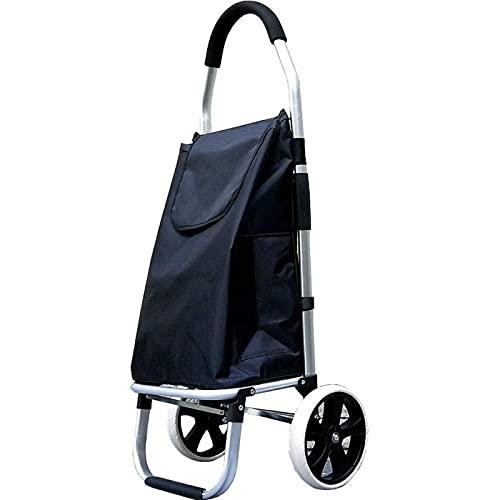 ZBYY Carros de compras, compras plegable portátil escalada carro de la compra carro de la compra pequeño carro ligero grande rueda pequeño remolque