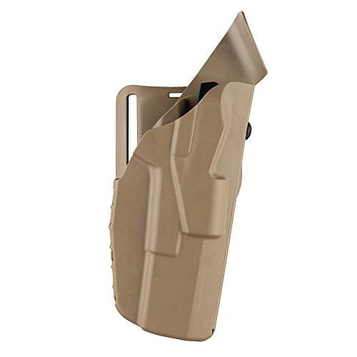 Safariland 7390 ALS, Level 1 Retention Duty Holster, Mid Ride, Fits: H&K 45 Full Size - Flat Dark Earth, Right Hand