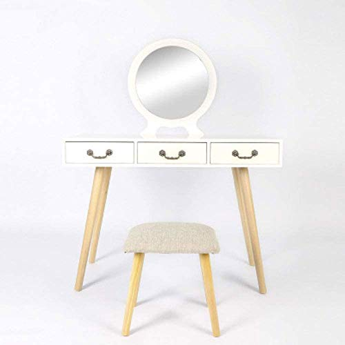 Great Deal! Qin Dressing Table Bedroom Mini Modern Minimalist Dressing Table Multi-Functional Econom...