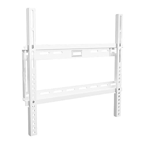 Soporte plano de pared King para montaje de televisor fino de 26 a 55 pulgadas, estructura fija, compatible con VESA, 50 x 50 mm, 400 x 400 mm Peso del televisor 40 kg, color blanco, de TV Furniture Direct.