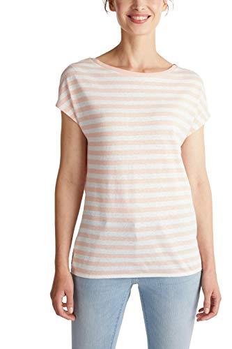 ESPRIT Damen 040EE1K350 T-Shirt, 843/PEACH 4, L