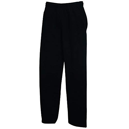 Fruit Of The Loom Pantalones de chándal para hombre Negro 52W x 34L