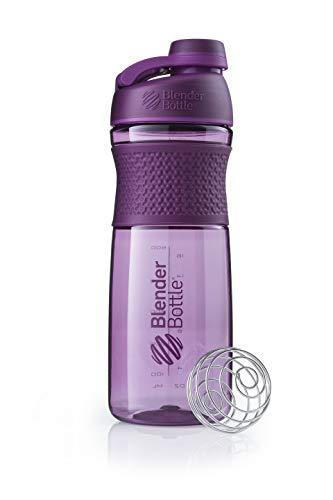 BlenderBottle Sportmixer | Protein Shaker cup | Dieet Shaker | Bidon | met BlenderBall | 820ml - pruim