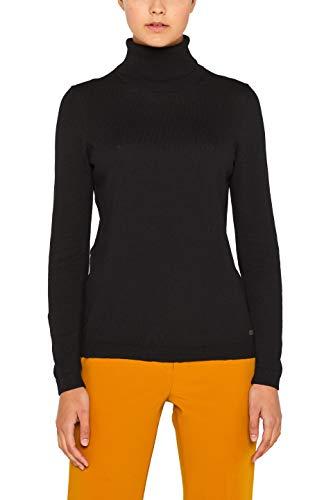 edc by ESPRIT Damen 099Cc1I001 Pullover, Schwarz (Black 001), Small (Herstellergröße: S)