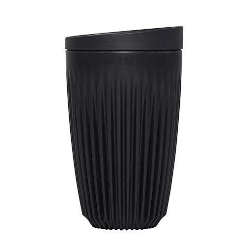 HuskeeCup - Reuseable Coffee Cup + Lid (12oz, Charcoal)
