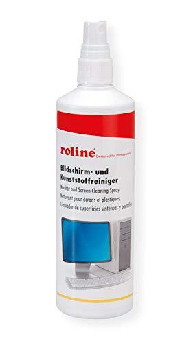 ROLINE Bildschirm-und Kunsstoffreiniger | Bildschirmreiniger | Kunststoffreiniger | Geeignet für Peripherie | Kunststoffreiniger | Reinigungsspray | Inhalt: 250ml