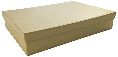 Décopatch BT032O Box flach (aus Pappmaché, für Format A4, 22 x 32 x 5,5 cm, zum Verzieren, ideal für Ihre Wohndeko) Kartonbraun