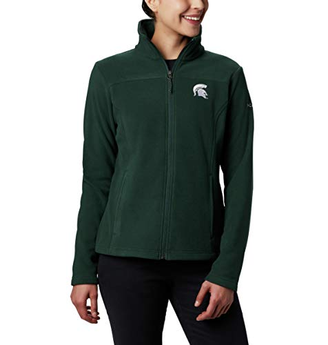 NCAA Michigan State Spartans Women's Give and Go II Full Zip Fleece Jacket, Small, MS - Spruce Mississippi