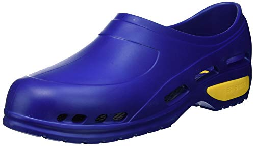 Gima - Zapato de trabajo profesional ultraligero, aireado, anatómico, antichoque, antideslizante, antiestático, sin látex, color azul, talla EU 46, 1 par.