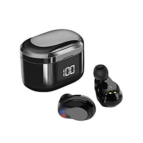 SPNEC Bluetooth Auriculares Binaural Llame a True Wireless Auriculares 20H Tiempo de Juego HD estéreo de Sonido de Graves Mini Bluetooth en Ear Auriculares con micrófono Incorporado