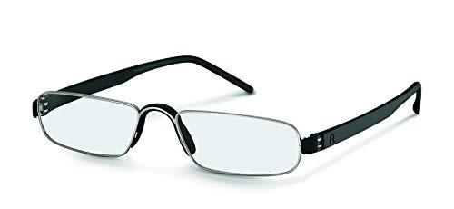 Rodenstock Unisex Lesebrille R2180, Lesehilfe mit entspiegelten Vollrandgläsern, Brille mit leichtem Edelstahlgestell, bei Weitsichtigkeit