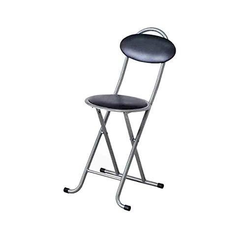 DLDL Le siège de Chaise Pliant Rond Noir matelassé de Chaise de Petit déjeuner de Chaise de Bureau s'est plissé , Chaise Pliante portative de 73 * 46 * 30.5cm