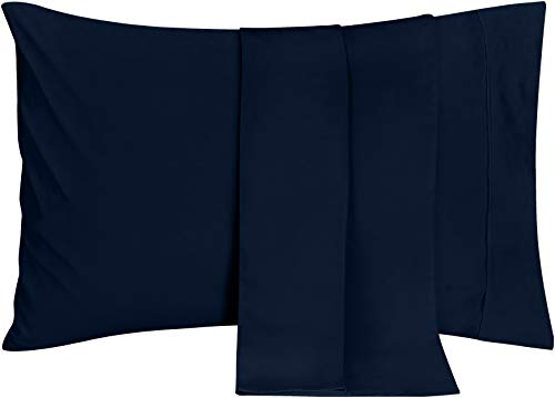 Utopia Bedding Pillowcases - 2 Pack - Soft Brushed Microfiber Fabric- Wrinkle, Shrinkage and Fade Resistant Pillow Covers (Queen, Navy)