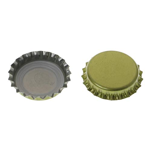 QIANGU Abrebotellas, 10 Piezas/Bolsa Tapas de Tapas de Botellas de Cerveza de Metal para Homebrew DIY Home Bar Tool útil