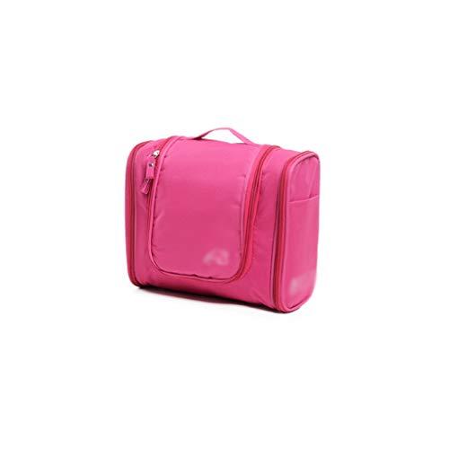 Voyage en Plein air Cosmetic Bag Grande capacité de Stockage Sac Case Portable Femme Voyage Portable Portable Wash Bag (Color : Red, Taille : 24 * 21cm)