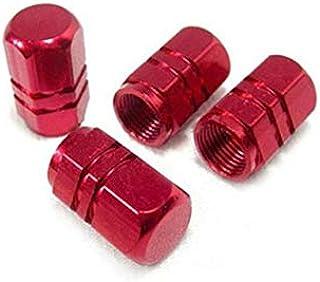 Zyj stores Autoband ventiel doppen 4 stuks Bolt-in aluminium Theftproof Valve Caps Wiel van de auto Banden Ventielen band ...