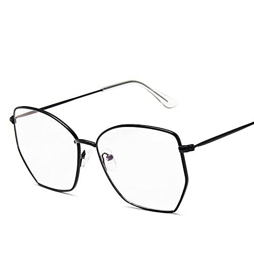 WQZYY&ASDCD Gafas de Sol Gafas De Sol con Montura Metálica para Mujer, Gafas De Sol De Moda para Hombre, Gafas De Luz Azul contra El Sol, Gafas De Sol Uv400-3