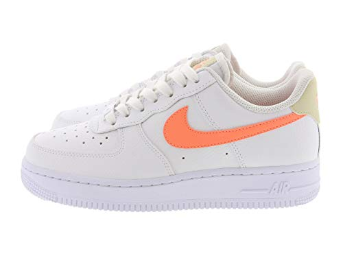 Nike Damen WMNS AIR Force 1 '07 Basketballschuh, White Atomic Pink Fossil White, 38 EU
