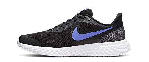 Nike Revolution 5 Glitter (GS) Sneaker, Schwarz (Black/Sapphire-Lemon Venom-WHI 041), 37.5 EU