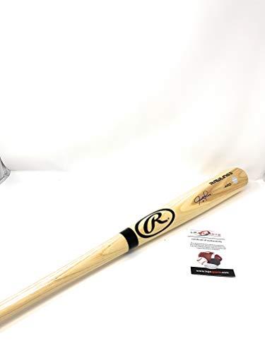 Justin Turner Los Angeles Dodgers Signed Autograph Game Model Baseball Bat Blonde LoJo Sports Certified