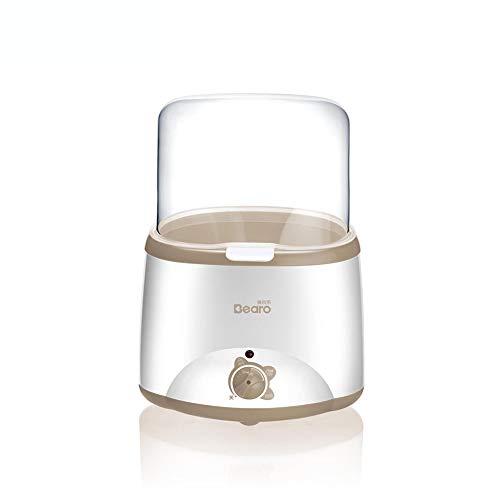 Esterilizador, Calentador de biberones doble Calentador de alimentos de leche multifuncional Esterilizador de vapor Sin BPA-brown