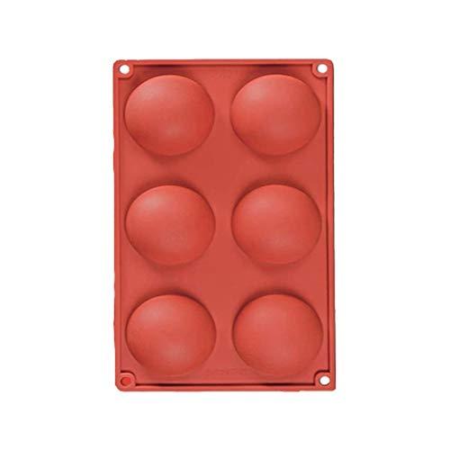 JasCherry Forme de Grande Demi-sphères Moule en Slicone Antiadhésif - Moule en Silicone Moules Multi-Cavités pour Muffins, Gâteau, Savon, Gelée, Pâtisserie, Cupcake #7