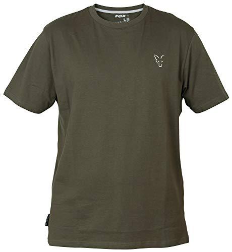 Fox Collection Green Silver T-Shirt - Shirt für Angler, Größe:M