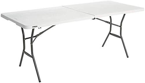LIFETIME 4428 Mesa plegable multiusos resistente UV100, blanco, 122x61x60/74/90 cm