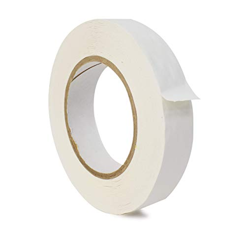 WOD CFTC6 Console Artist Tape White, 1/4 inch x 60 yds. Flatback Paper Marking/Labeling Tape Residue Free, for Watercolor Paper to Prevent Tearing