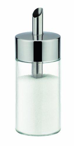Tescoma Zuckerstreuer aus Glas, Edelstahl gebürstet, ideal für weißer/brauner Zucker, 150ml