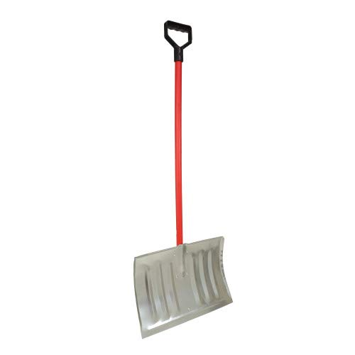 Great Deal! MyHelper 3009S 47 Steel Blade Snow Shovel with 18-inch by 14-inch Blade and D Grip Hand...