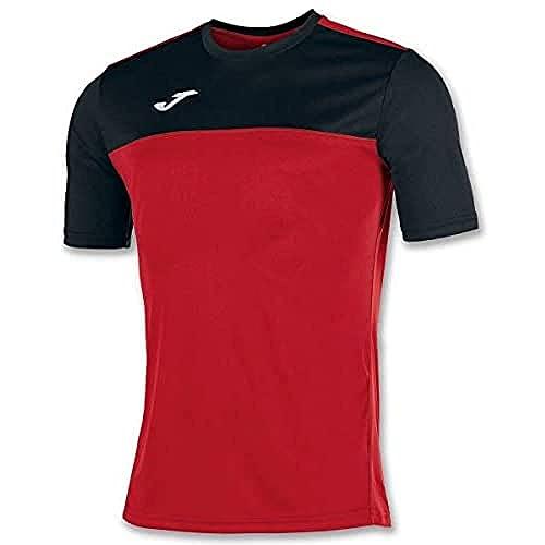 Joma Winner Camisetas Equip. M/c, Niños, Rojo/Negro, 2XS