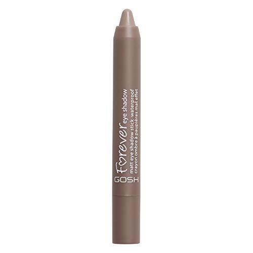 GOSH Forever Eye Shadow Lidschatten-Stift mit cremiger Textur für einfaches Auftragen und intensives Farbergebnis   wasserfest, hält bis zu 8h   parfümfrei & hautverträglich   010 Twisted Brown (Matt)
