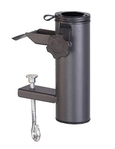 Spetebo Balkon Sonnenschirm Halterung anthrazit - für Schirmdurchmesser bis 48 mm - Metall Balkongeländer Schirm Halter Befestigung
