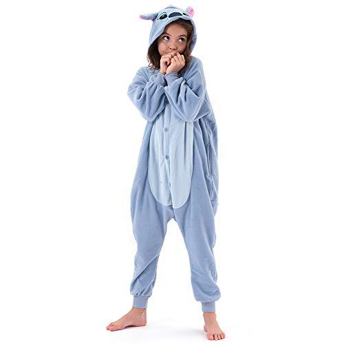 Beauty Shine Unisex Child Cartoon Costume Halloween Cosplay Pajamas (4T, Stitch)