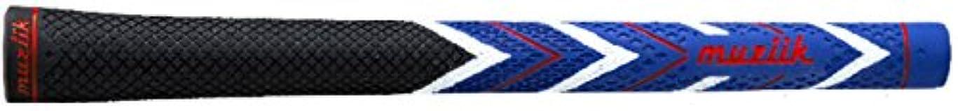 醸造所側面複雑なmuziik グリップ レベル4 ドライコンパウンドラバー レベル4 黒/青
