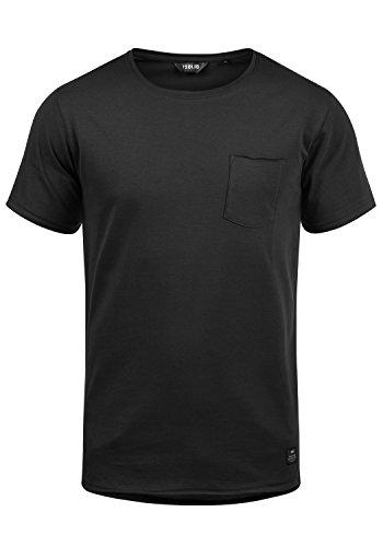 !Solid Andrej Herren T-Shirt Kurzarm Shirt Mit Rundhalsausschnitt Aus 100% Baumwolle, Größe:XL, Farbe:Black (9000)